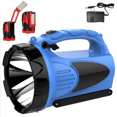 rechargeable portable led searchlight with lamp